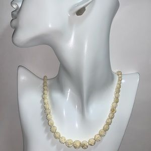 ANTIQUE pre-ban Natural African Ivory NECKLACE